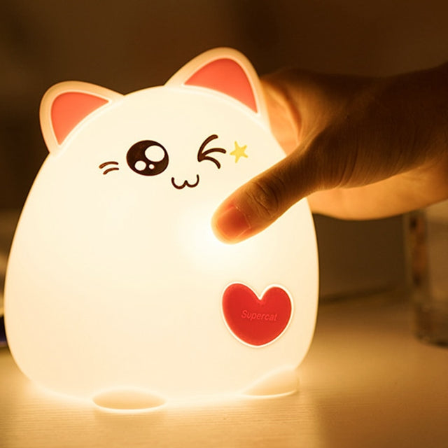 Cartoon Cat Night Light