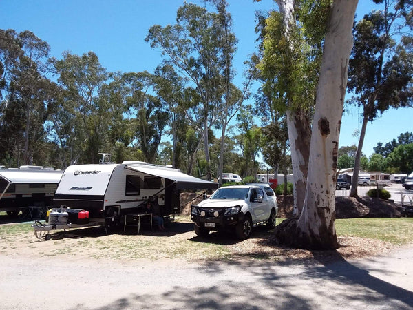 Caravan with LE300 free camping