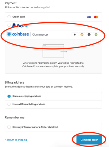 Select coinbase commerce