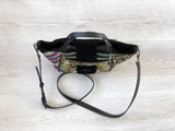 Desigual - Black and gold embroidered crossbody bag