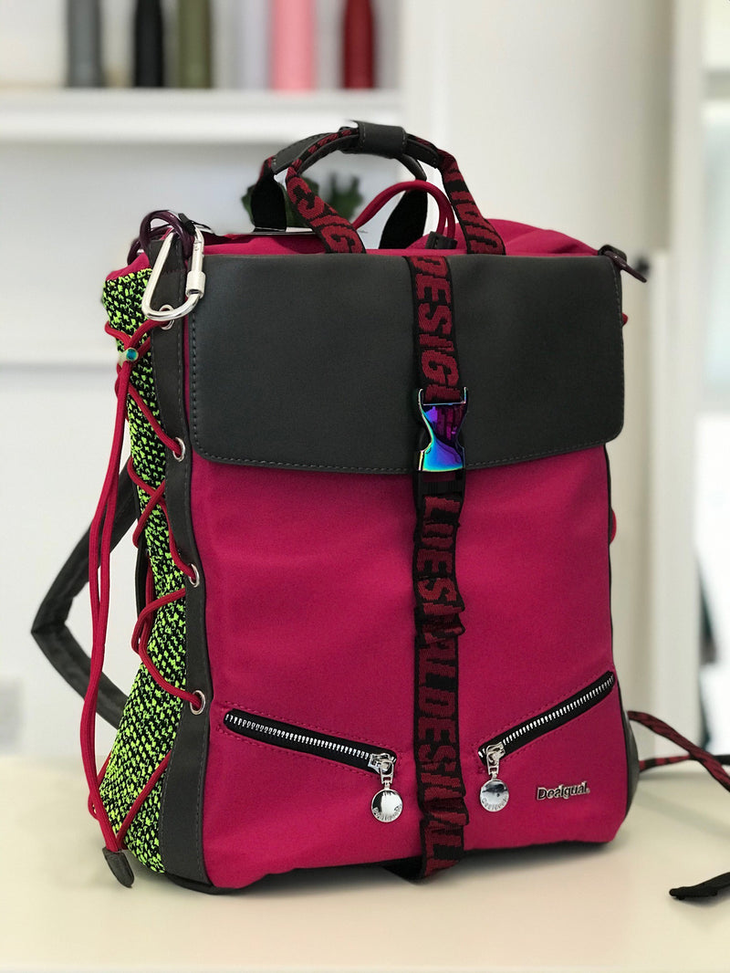 Fuchsia and neon Backpack - Desigual