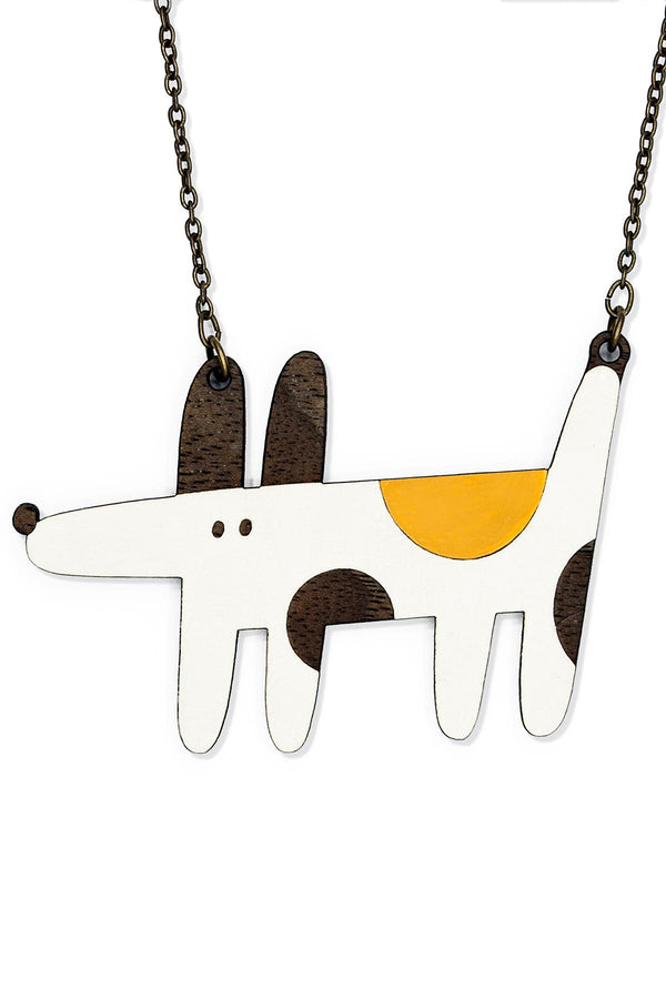 Natural Jewellery Chain & Wooden Necklace Hand-Painted Cheeky Charly Materia Rica