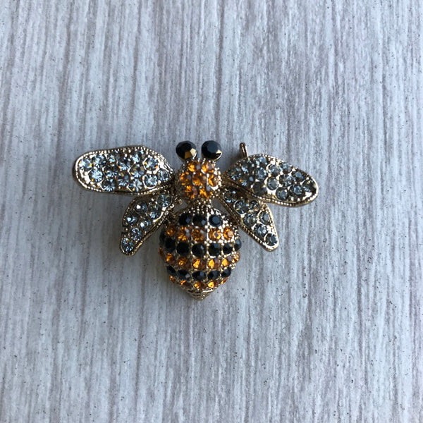 Save the bees! Bee Broach. Crystal Swarovsky elements