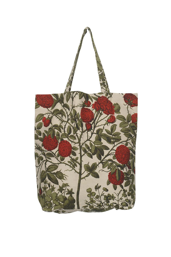 Luxurious Canvas Carry Bag OHS x Kew RBG Rosebush Red