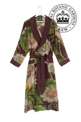 Luxurious Modal and Viscose Dressing Evening Gowns OHS x Kew RBG Passion Flower