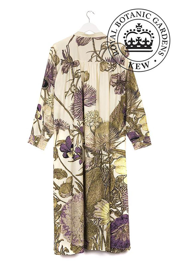 Luxurious Modal and Viscose Evening Duster Coat OHS x Kew RBG Thistle Purple
