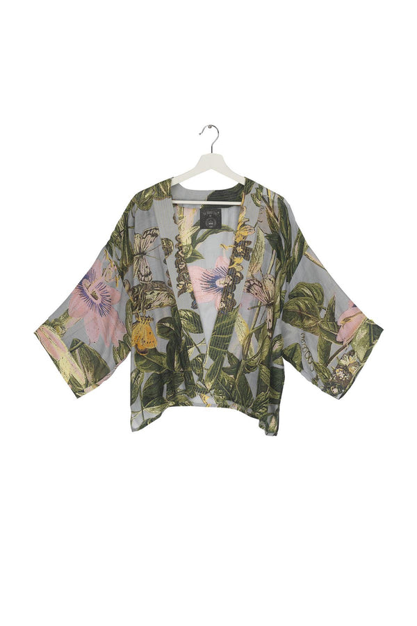 Modal and Viscose Women's Kimono Jacket OHS x Kew RBG Chilli Plant