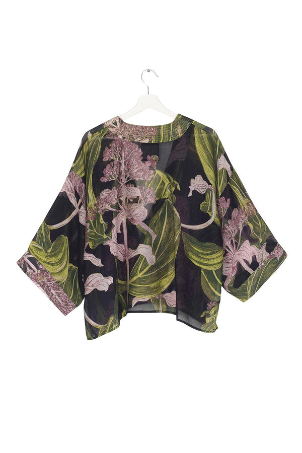 Modal and Viscose Women's Kimono Jacket OHS x Kew RBG Medinilla