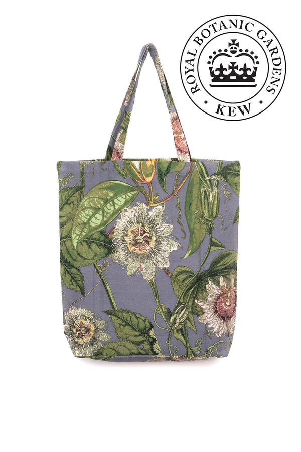 Passion Flower Grey Bag