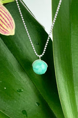 Peruvian Amazonite Pendant Sterling Silver Necklace Natural Gemstones