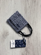 Protective cotton face mask - Navy Leopard