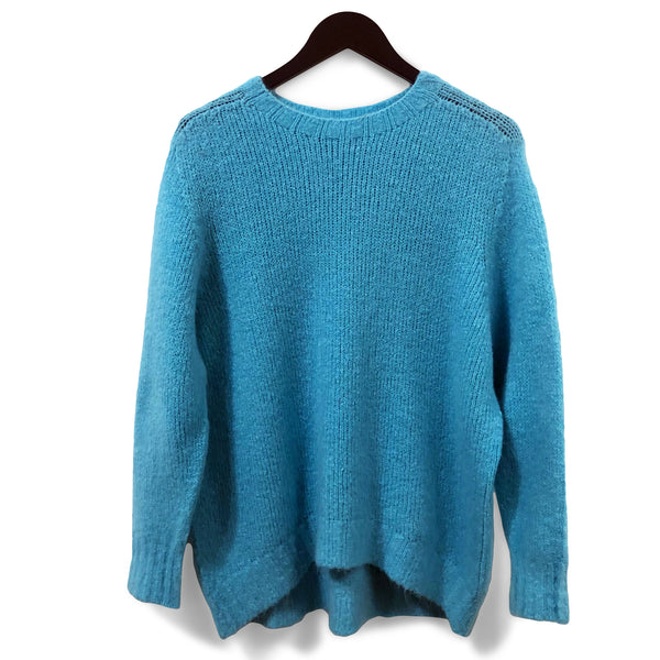 Soft seamless oversized jumper - Turquoise blue