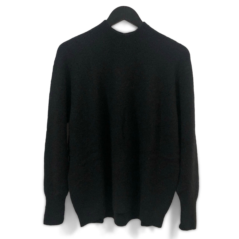 Soft seamless turtleneck jumper - Pitch black