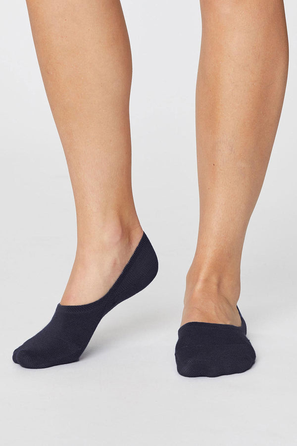 Bamboo and Organic Cotton No Show Socks Black - Bamboo Clothes