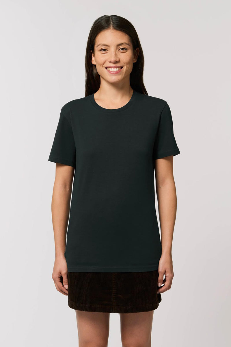 Ethical Unisex Organic Cotton T Shirt Vegan Fairtrade & Sustainable Black