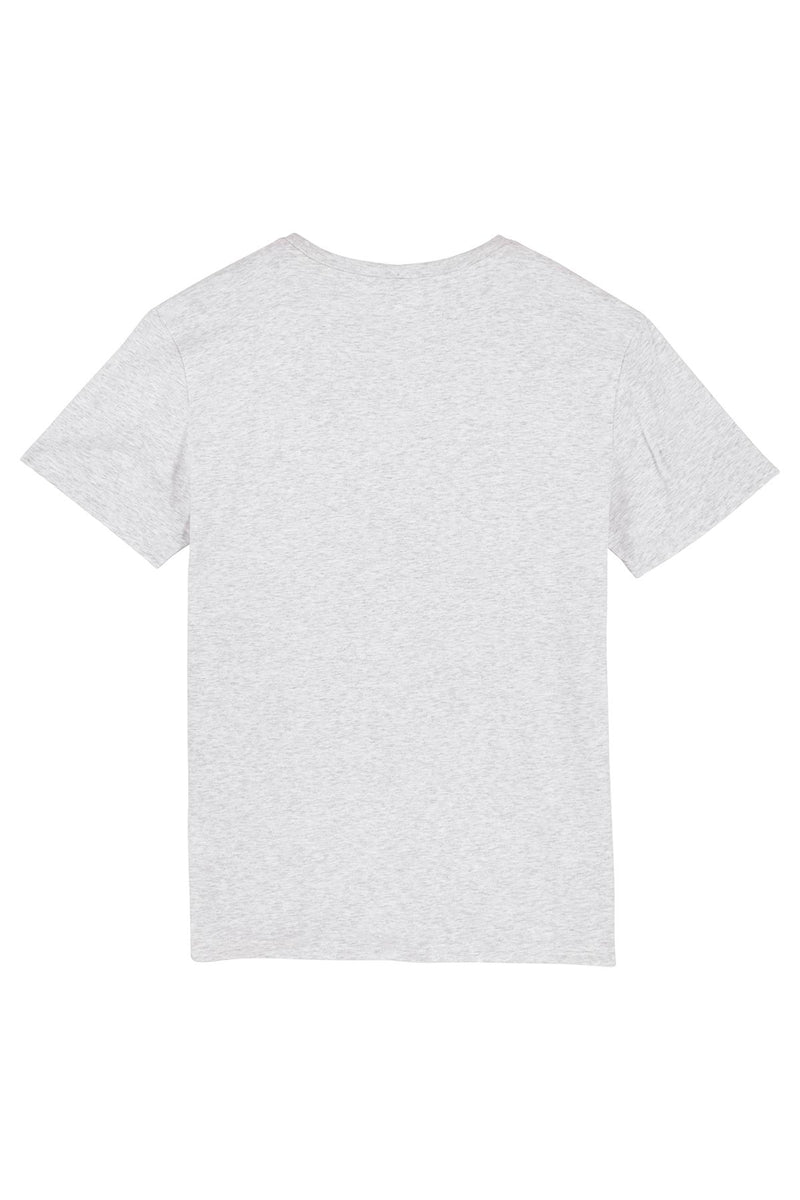 Ethical Unisex Organic Cotton T Shirt Vegan Fairtrade & Sustainable Heather Ash