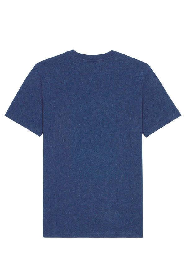 Ethical Unisex Organic Cotton T Shirt Vegan Fairtrade & Sustainable Blue