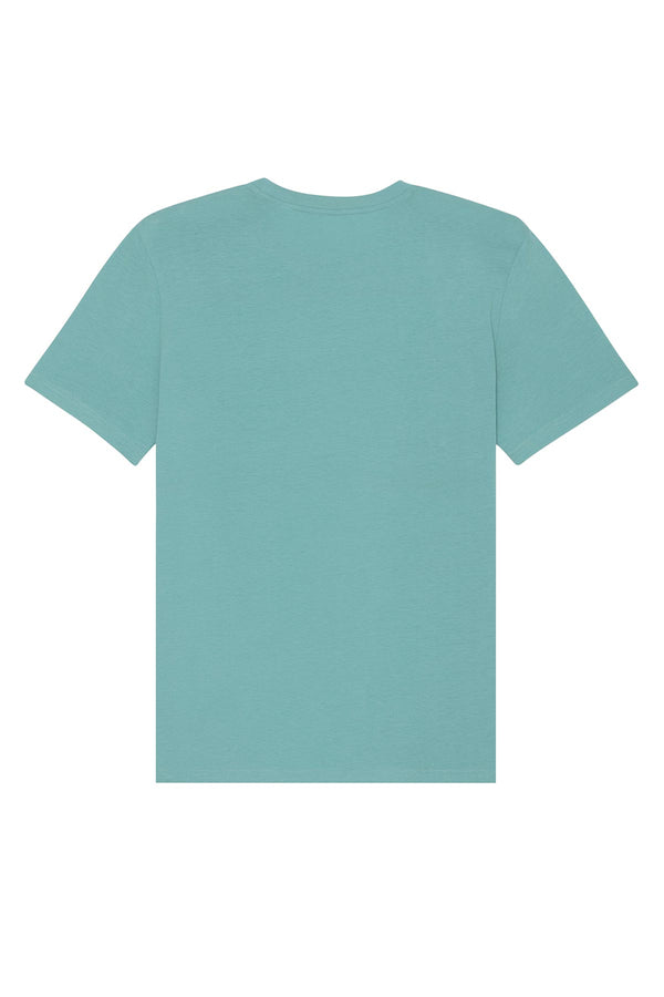 Ethical Unisex Organic Cotton T Shirt Vegan Fairtrade & Sustainable Teal Mostera
