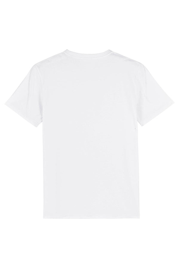Ethical Unisex Organic Cotton T Shirt Vegan Fairtrade & Sustainable White