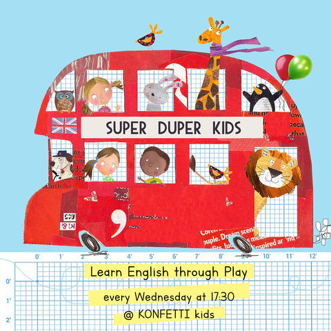 super duper kids taller niños ingles workshop english barcelona
