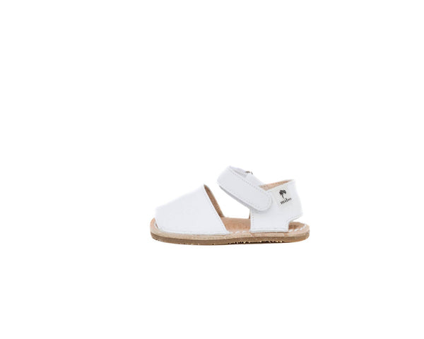 mibo menorquinas para babies beautiful sandals for summer in white