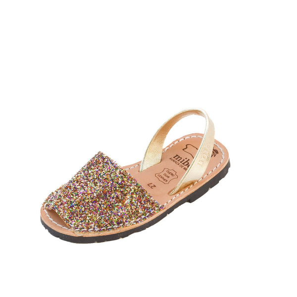 abarcas niños con glitter, sandals for kids menorquinas with glitter