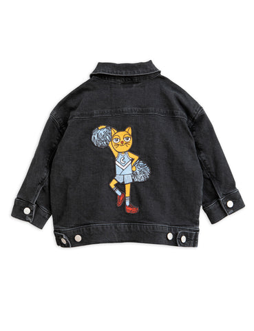 mini rodini cheer cat denim jacket chaqueta de mini rodini