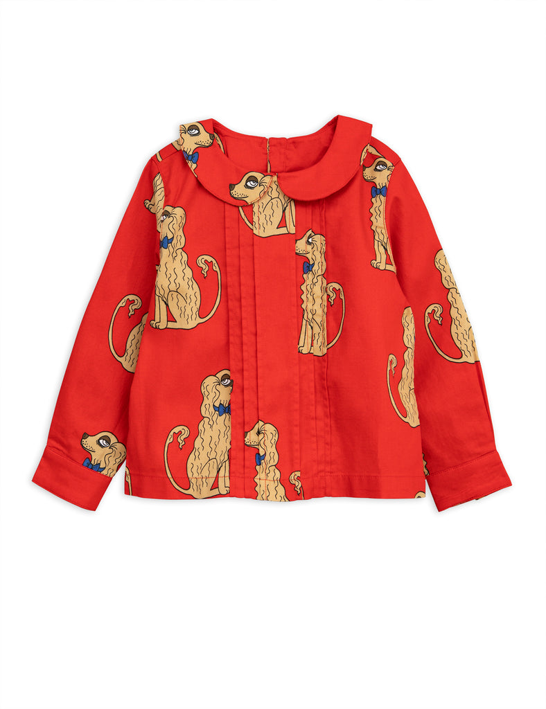 Mini Rodini - Spaniels Woven Pleat Blouse