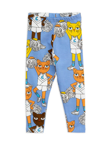 mini rodini blue cheercats leggings kid baby