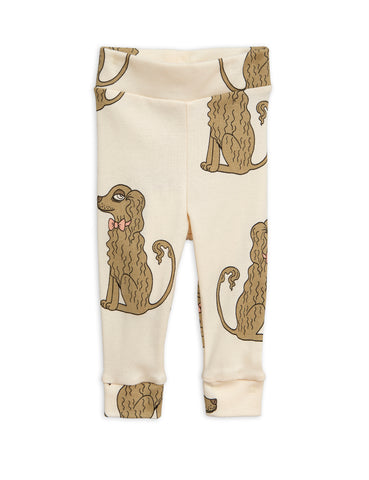 mini rodini spaniel leggings offwhite