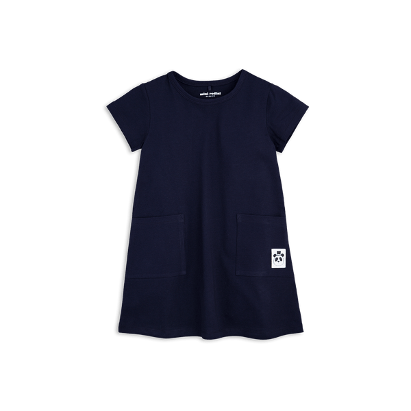 basic dress from mini rodini short sleeves in Navy Blue