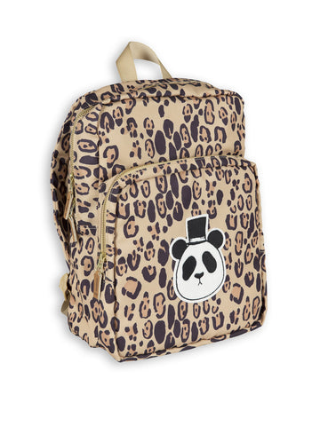 mini rodini panda beige backpack leopard