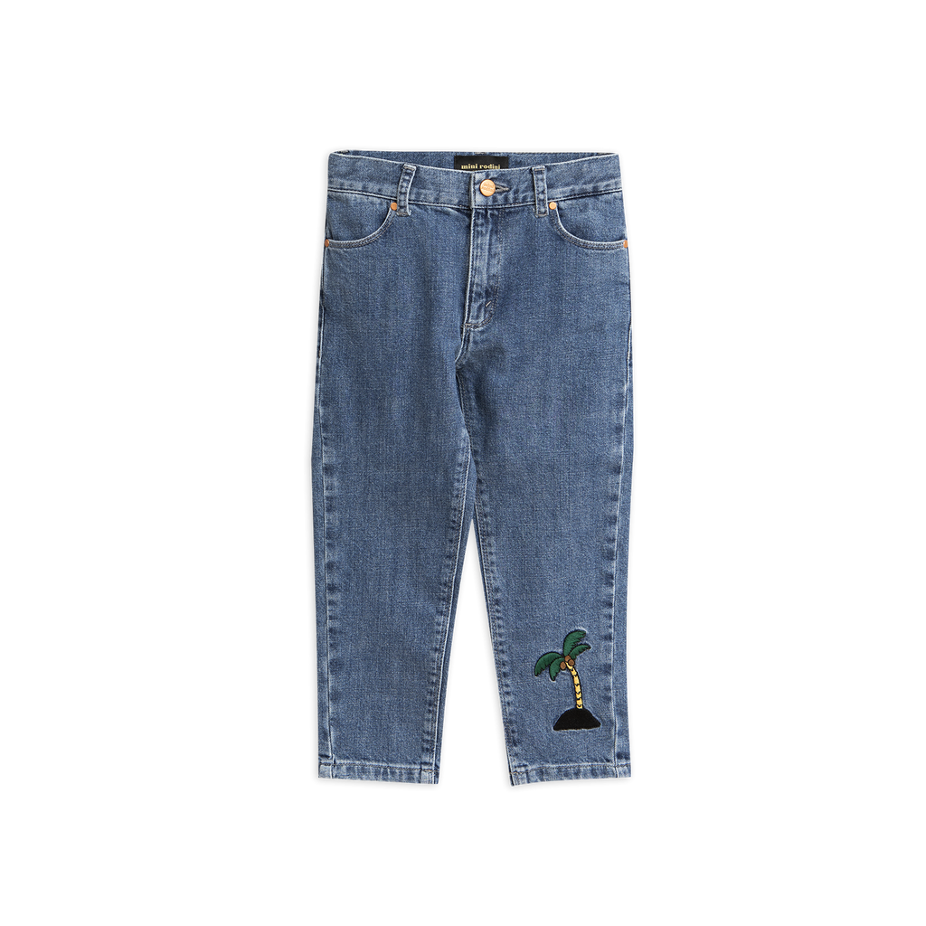 jeans denim blue palm from mini rodini