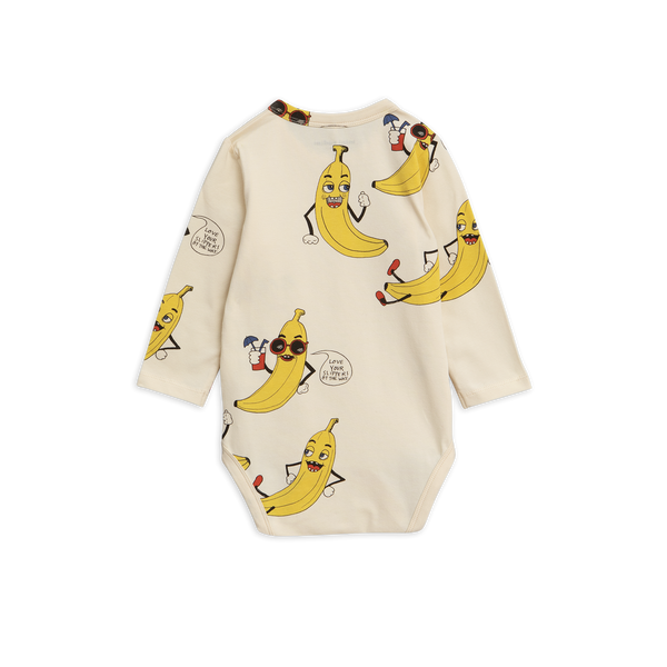 bananas pop long sleeves off white with yellow bananas sunglasses from mini rodini