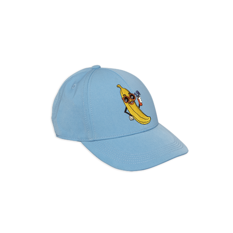 banana cap in light blue from mini rodini