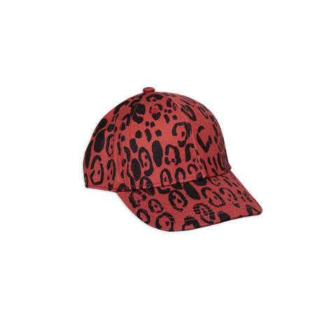 red leopard cap from mini rodini