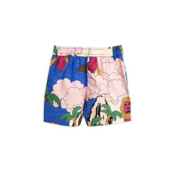 seamonster swim pants from mini rodini in pink blue and green