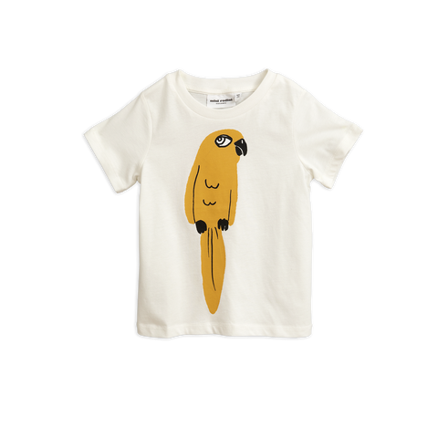 parrot t-shirt mini rodini tutto bene yellow parrot