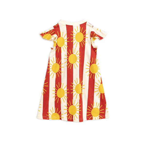 mini rodini sun stripe top wing dress red and white with yellow sun