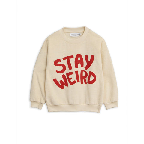 stay weird off white and red sweater mini rodini