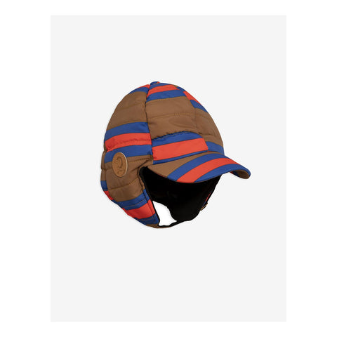 mini rodini insulator stripe hat blue red brown