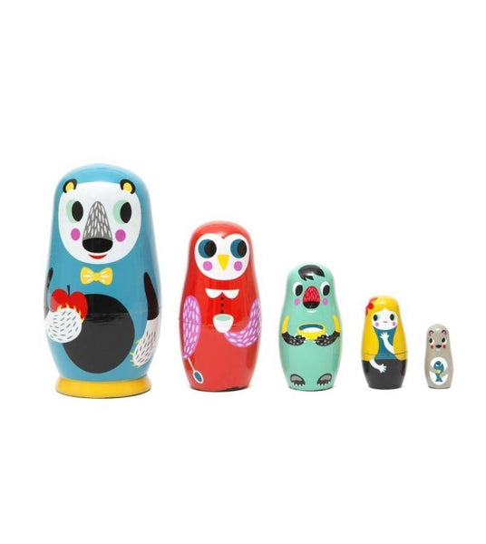 matrioska petit monkey wood animals