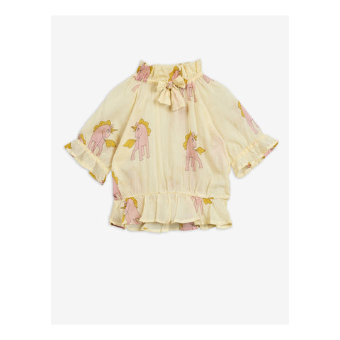 diana mini rodini pink unicorns yellow blouse summer collection unicornio rosa  Edit alt text
