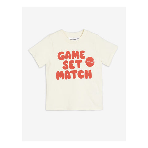 game set match red t-shirt mini rodini off white camiseta