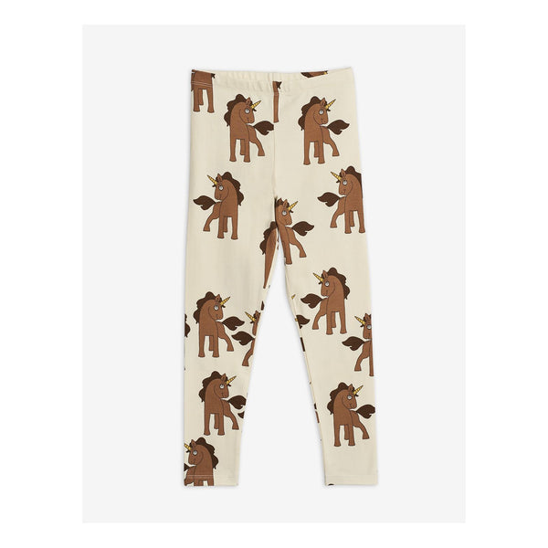 leggings off white with brown unicorns from mini rodini diana summer collection 2020