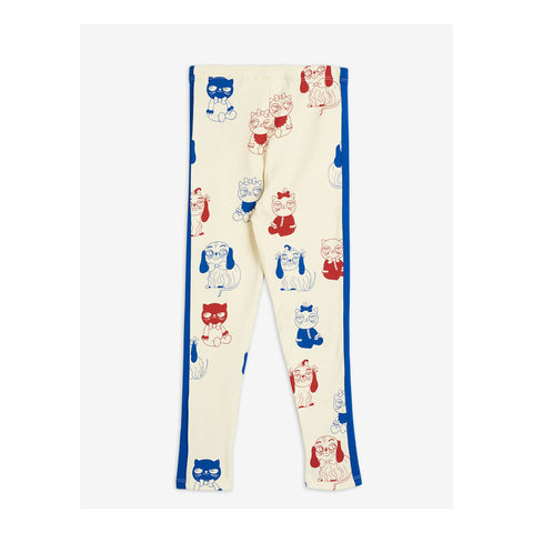 leggings mini rodini off white mini babies red and blue