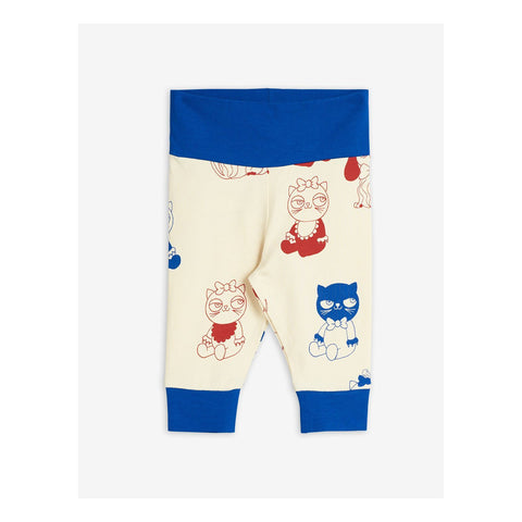 mini rodini mini babies leggings baby off white blue and red