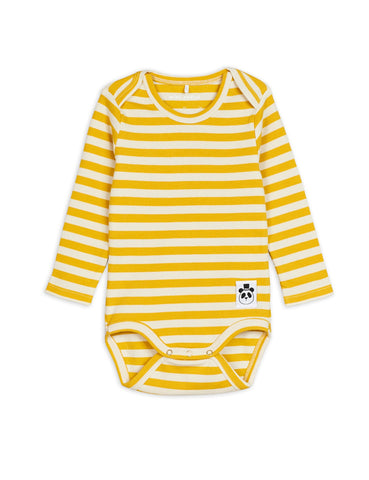 From Mini Rodini Stripes Off white and yellow body diana collection chapter two