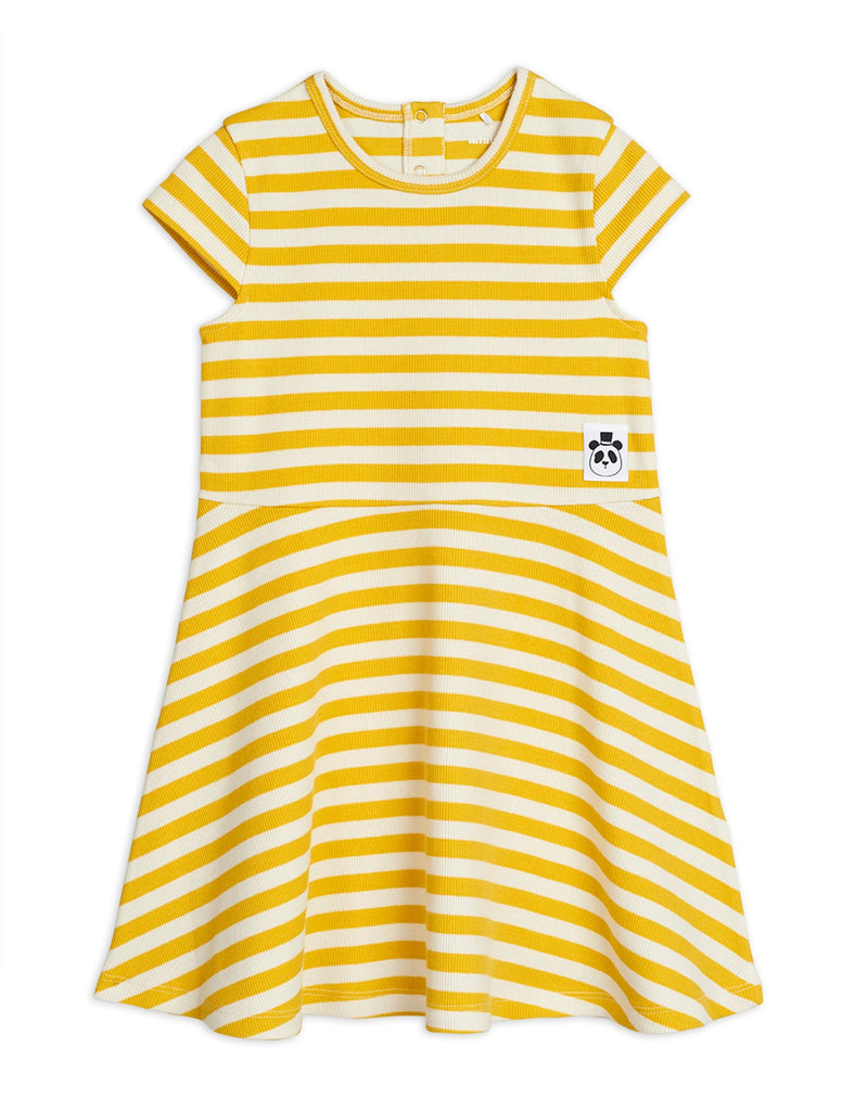 diana summer collection mini rodini yellow and off white dress short arms