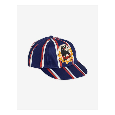Panther Badge cap with panther blue white and red from mini rodini